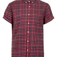Red Tartan Short Sleeve Shirt - New This Week - New In - TOPMAN USA