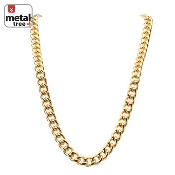 "Jewelry Kay style Men's Heavy 13 mm 14K Gold Plated Stainless Steel 30"" Cuban Link Chain Necklace"