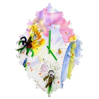 Ginette Fine Art Long Live The Weeds Baroque Clock