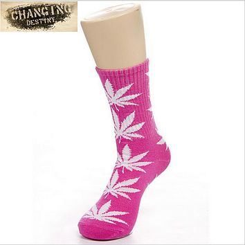 Best 2017 Germany's Harajuku Hiphop Women's Maple Leaf Sock Cotton Hose Long Skateboard Hip-hop Socks for Female