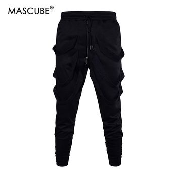 MASCUBE 2018 Men Gyms Pants Casual Elastic cotton Mens Fitness Workout Pants Skinny Sweatpants Trousers Jogger Pants