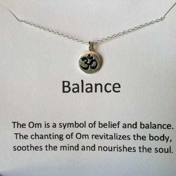 Ohm Necklace, Om Sterling Silver Ne.. on Luulla