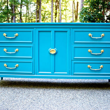 High Gloss Custom Lacquered Vintage Dresser
