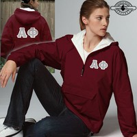 Alpha Phi Pullover Jacket - Charles River 9905 - TWILL