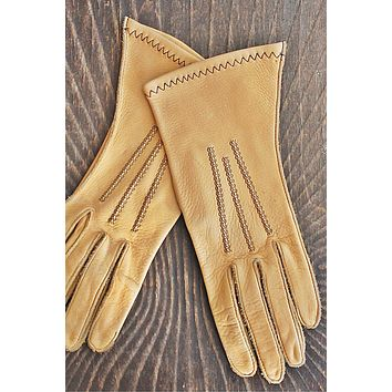 Vintage 1970s Deerskin + Driving Gloves