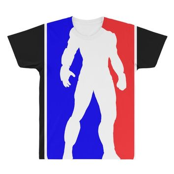 Iron Man NBA Style All Over Men's T-shirt