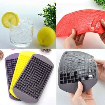 Safety 160 Ice Cubes Cube Pudding Jelly Silicone Tray Maker Mould Mold DIY