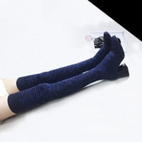 Sexy Women Over The Knee Length Pull on Boot Thigh High Heels Knitting Socks Long Boots 2016 New Slim Stretch Boots Shoes