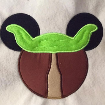 Disney May The 4th Be With You Yoda Appliqued T Shirt Available from 12m to 14/16