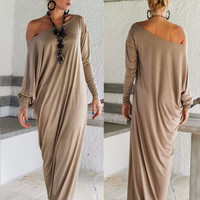 Women Long Dress Long Sleeve Maxi Dress Casual Sexy Fall Full Sleeve Loose Wrap Oversize Irregular Elegant Party Dresse vestidos
