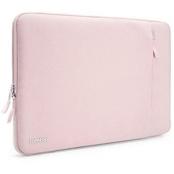 Tomtoc Drop-proof Laptop Sleeve for 13 - 13.3 Inch MacBook Air | MacBook Pro Retina Late 2012 - Early 2016 | 12.9 Inch iPad Pro, 360° Protective Chromebook Tablet Case, Spill-Resistant, Baby Pink