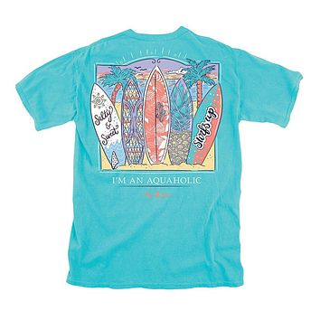 Surf Boards Tee in Tide by Lily Grace