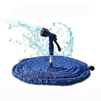 ONETOW 75 feet (22.5 m)  Irrigation water Flexible Garden Water Hose Spray Gun Magic Hose Water Pipe Car Washing Home cleaning Tools