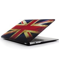 "Mosiso Air 13 Inch Case, Vintage Union Jack UK Great British Flag Soft-Touch Plastic Hard Shell Cover for MacBook Air 13.3"" (Models: A1369 and A1466), UK Flag-1"
