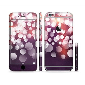 The Dark Purple with Glistening Unfocused Light Sectioned Skin Series for the Apple iPhone6s Plus