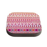 "Nika Martinez ""Summer Breeze"" Coasters (Set of 4)"