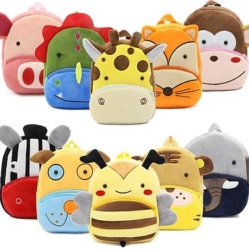 Plush Kid Animal Backpacks