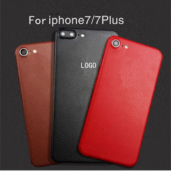 BEST leather Skins Protective Film Wrap Skin Cellphone back paste Protective Film Sticker For iphone 6 6s 6plus 6splus 7 7plus