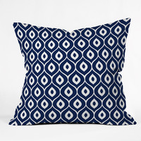 Aimee St Hill Leela Navy Throw Pillow