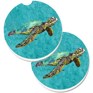 Turtle Set of 2 Cup Holder Car Coasters 8659CARC