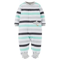 Just One You™Made by Carter's® Newborn Boys' Shark Sleep N' Play - Baltic Teal