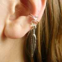 LIMITED EDITION Silver Feather Ear Cuff, Gender Neutral Design