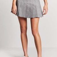 Glen Plaid Pleated Skirt