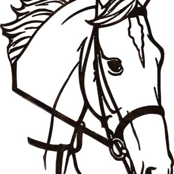 Horse Head Metal Wall Art Country Rustic Home Decor