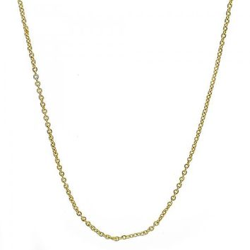 Gold Tone 04.99.0012.18GT Basic Necklace, Rolo Design, Polished Finish, Golden Tone