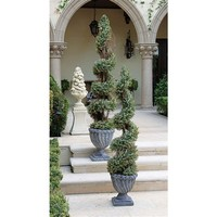 SheilaShrubs.com: Spiral Topiary Tree Collection - Small SE6089 by Design Toscano: Topiary