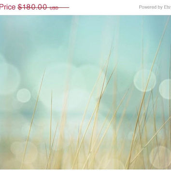 Summer Sale Large Canvas Wall Art • Beach Decor • Sea Green, Aqua Blue, and Brown Wall Art - Fine Art Print or on Gallery Wrapped Canvas