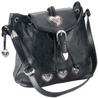 Embassy Italian Stone heart leather Purse