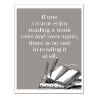 Read a Book Over Quote Art Print Wall Art by JaneAndCompanyDesign