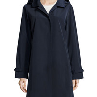 A-line Coat with Removable Hood, Size:
