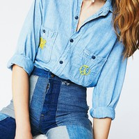 Free People Vintage 1970s Denim Button Down