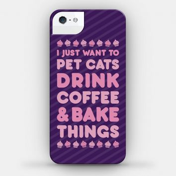 Pet Cats Drink Coffee Bake Things