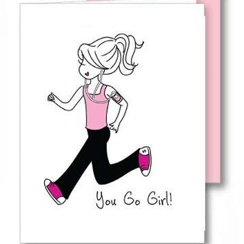 You Go Girl/Runner - Congratulations Greeting Card