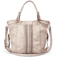 Sole Society Alessandra Oversize Woven Shoulder Bag