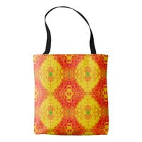 Colorful geometric pattern tote bag