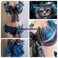 Chesire Cat inspired Rave Costume