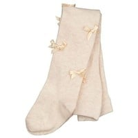 Monnalisa Baby Girls Pink Bow Tights