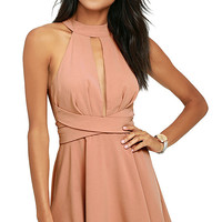 Cross Your Heart Blush Skater Dress