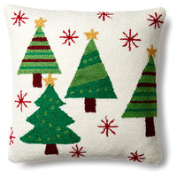 Christmas Trees 16x16 Pillow, Green