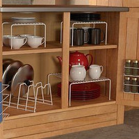 6pc Cabinet Organizer Set Kitchen Pantry Room Storage Rack New Dishes