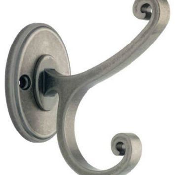 Liberty B42505Z-AL-C Casual Scroll Coat & Hat Hook, Antique Iron Finish