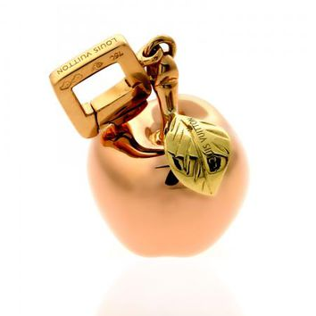 Louis Vuitton 18k Rose, Yellow, & Green Gold Big Apple Charm Pendant | World's Best