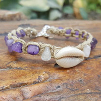 Toddler Hemp Anklet, Sea Shell Jewelry for Girls, Beach Jewelry, Hemp Anklet, Gift for Daughter, Sea Shell Jewelry, Children Jewelry, Anklet