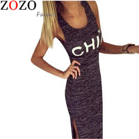 2016 new arrival CHIC Letter Print Maxi Women Broadcloth Summer Dresses Girl Long Dress Free Shipping Vestidos