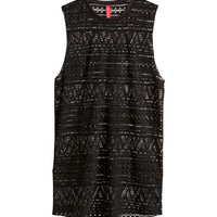Lace-knit Tank Top - from H&M