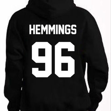 5sos Hoodie Ashton Luke Hemmings 96 Hooded Sweatshirt Logo Black White Gray Red Maroon Unisex Hoodie Tee S,M,L,XL #4